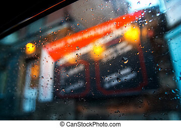 esőcsepp, ablak, háttér, autó