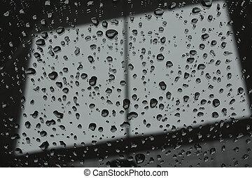 esőcsepp, elvont, ablak