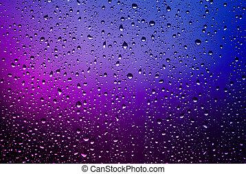 esőcseppek, ablak pane