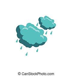 esőcseppek, háttér, felhő, fehér