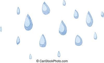 esőcseppek, karikatúra