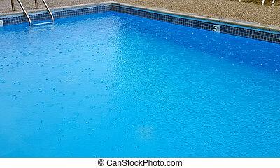 esőcseppek, pocsolya, úszás