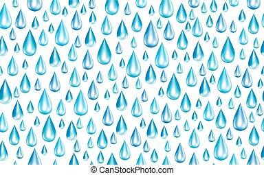 esőcseppek, vektor, seamless