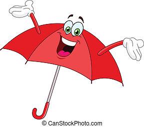 esernyő, karikatúra