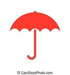esernyő, piros