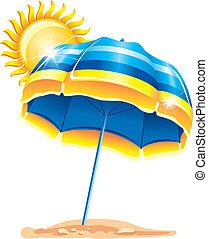 esernyő, tengerpart