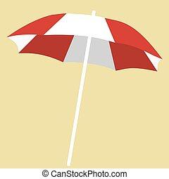 esernyő, white piros, bágyasztó, tengerpart