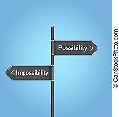 eshetőség, válogatott, lehetetlenség, vs, aláír, út