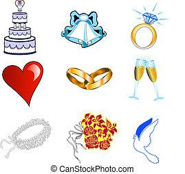 esküvő, 2, ikonok