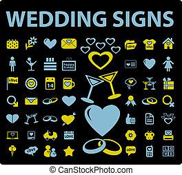 esküvő, cégtábla