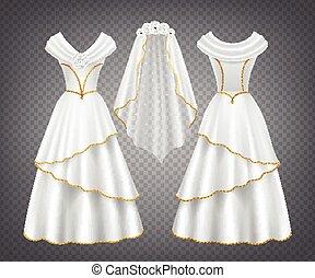 esküvő, függöny, nő, white ruha, tüll