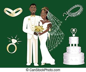 esküvő, ikonok