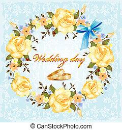 esküvő, kártya