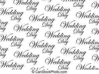 esküvő, lábnyom, nap, ismétel, forgatókönyv