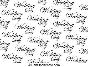 esküvő nap, forgatókönyv