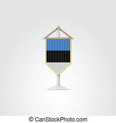 estonia., nemzeti, ábra, jelkép, countries., európai