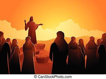 etet, jézus, ötezer