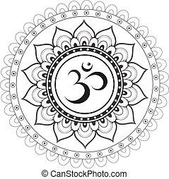 ethn, om jelkép, szent, szanszkrit