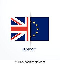 eu, brexit, zászlók, referensum, uk