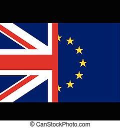 eu, fogalom, zászlók, uk