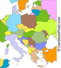 európa, keleti, editable, országok