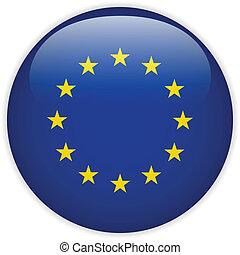 európa, lobogó, sima, gombol