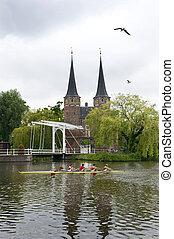 evezés, holland