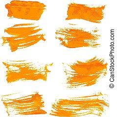 evez, festék, gouashe, narancs, sűrű, 1, gyakorlatias, állhatatos