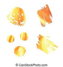 evez, festék, vektor, arany