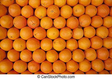 evez, kazalba rakott, narancsfák