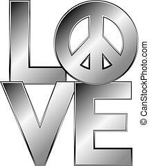 ezüst, love=peace