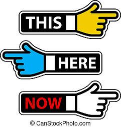 ez, elnevezés, itt, kéz, vektor, jelenleg, mutató