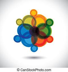 ez, elvont, rings-, graphic., piros, különböző, virág, vektor, zöld, icon(sign), gyönyörű, összetett, szeret, kék, színes, ábra, s a többi, őt előad, elkészített, narancs, befest
