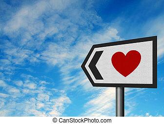 ez, szeret, talál, irány