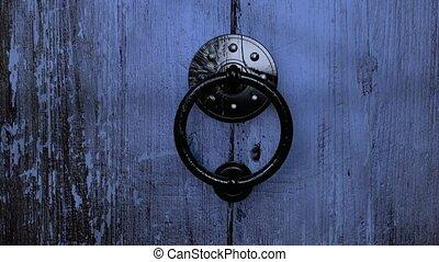 fából való, öreg, ajtó, hd, nyílás