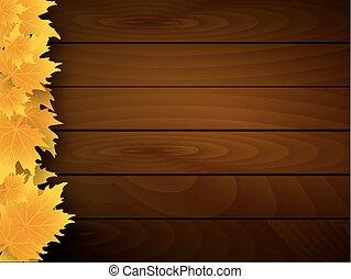 fából való, ősz kilépő, bukott