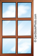 fából való, ablak, glasspanes