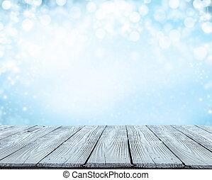 fából való, elvont, tél, háttér, deszkák