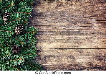 fából való, fa, karácsony, háttér, fenyő