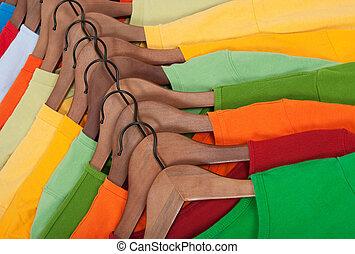 fából való, hirdetmények, trikó, színes, válogatott