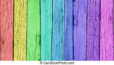 fából való, színes, háttér