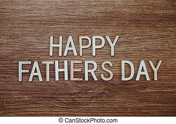 fából való, szöveg, apák, háttér, üzenet, nap, boldog