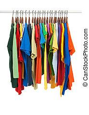 fából való, többszínű, ing, hirdetmények, változatosság