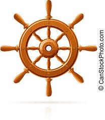 fából való, tengeri, gördít, hajó, szüret