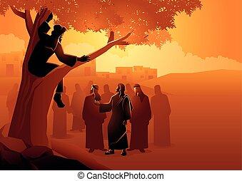 fáradt fügefa, felment, fa, feláll, zacchaeus
