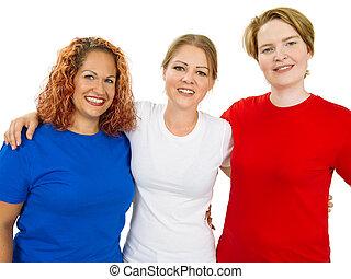 fárasztó, blue ing, tiszta, white piros, nők