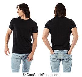 fárasztó, ember, black ing, tiszta