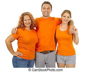 fárasztó, narancs, emberek, ing, tiszta