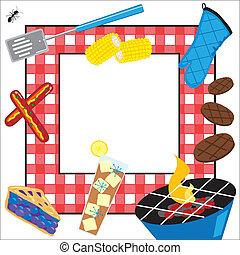 fél, piknik, summertime idő, meghívás