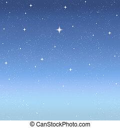 félhomály, csillaggal díszít